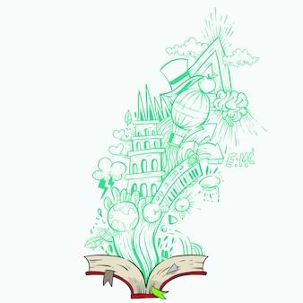 Livre doodle source d'imagination et de connaissances