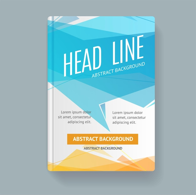 Livre flyer placard template avec bulle de dialogue abstraite à la mode.