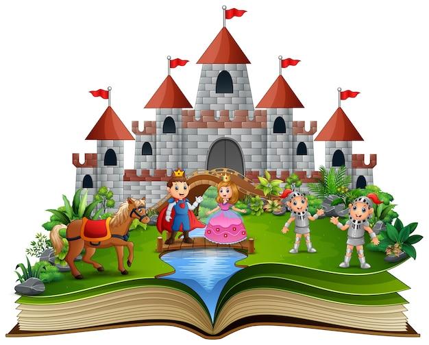 Livre d'histoire avec des princesses de dessins animés