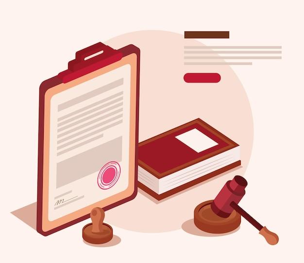 Livre et icônes juridiques