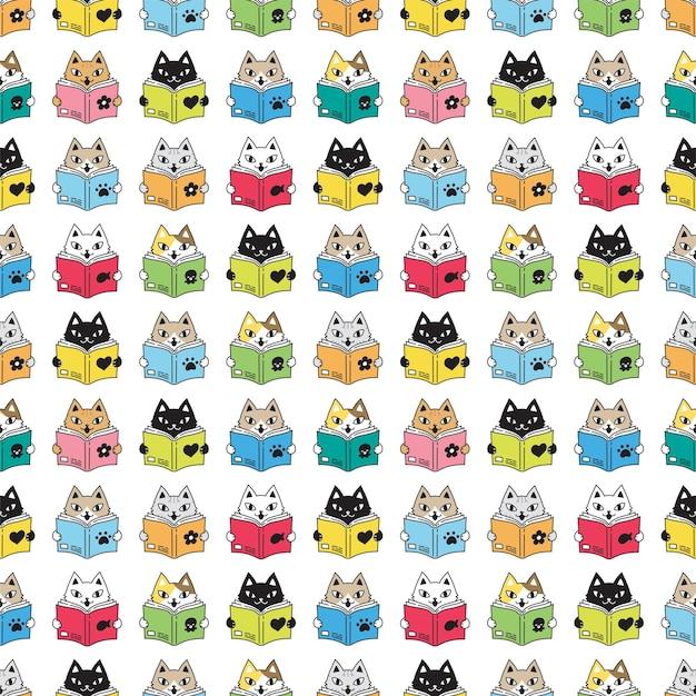 Livre de lecture chat modèle sans couture chaton