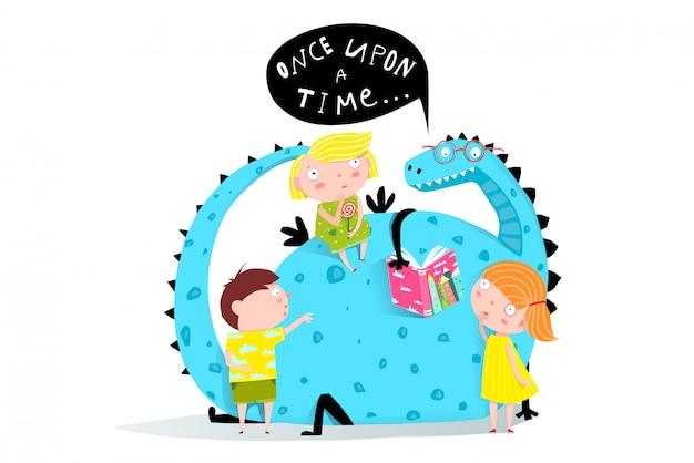 Livre de lecture de dragon aux enfants