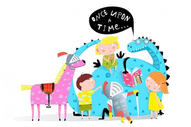 Livre de lecture dragon aux enfants