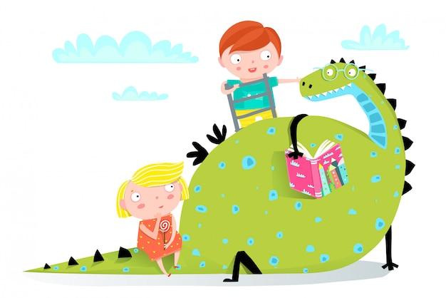 Livre de lecture de dragon pour garçon et fille