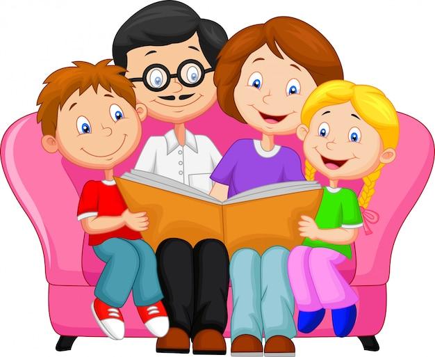 Livre de lecture de famille heureuse