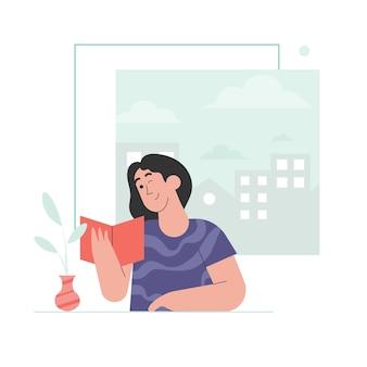 Livre de lecture de femme
