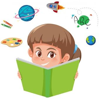 Un livre de lecture fille