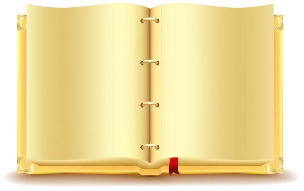 Livre d'or ouvert