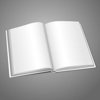 Livre ouvert blanc ou album photo blanc pour vos messages, concepts de conception, photos, etc.