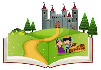 Livre ouvert conte de fées