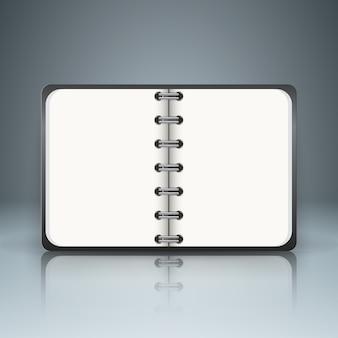 Livre papier - infographie de l'entreprise sur le fond gris