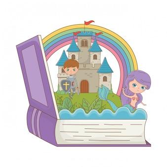 Livre et personnage de conte de fées