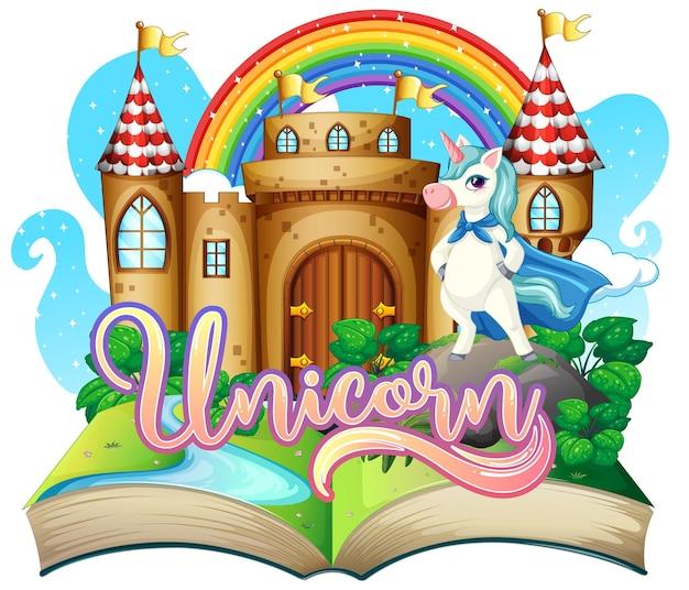 Livre pop-up 3d avec thème de conte de fées