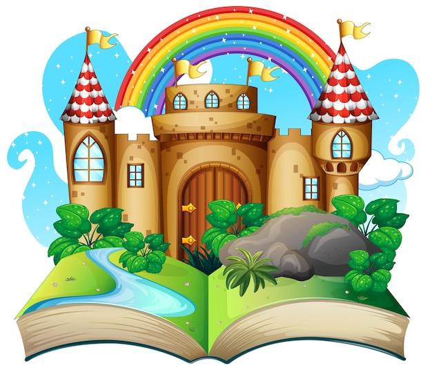 Livre pop-up 3d sur le thème du conte de fées du château