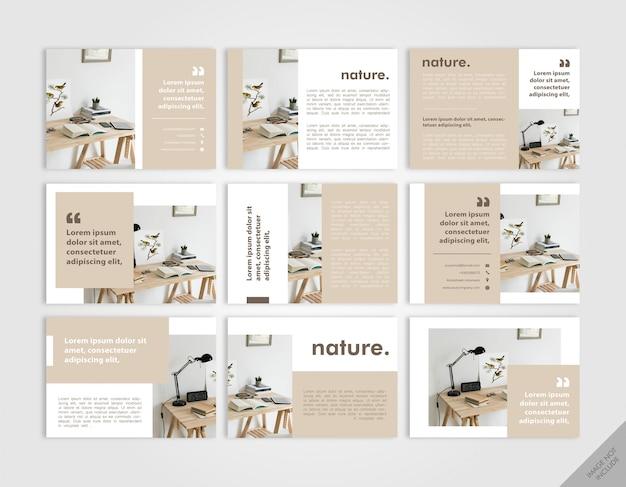 Livre de présentation de meubles brun clair