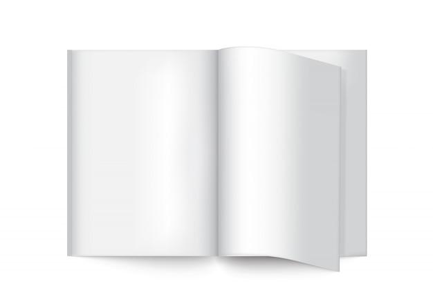 Livre réaliste de maquette 3d pour magazine, catalogue, brochure