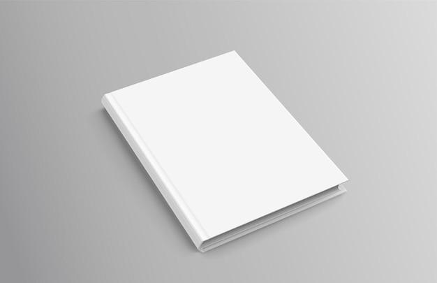 Livre relié sur fond gris en illustration 3d