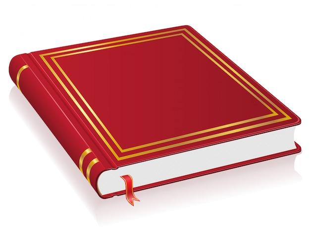 Livre rouge avec illustration vectorielle de signet