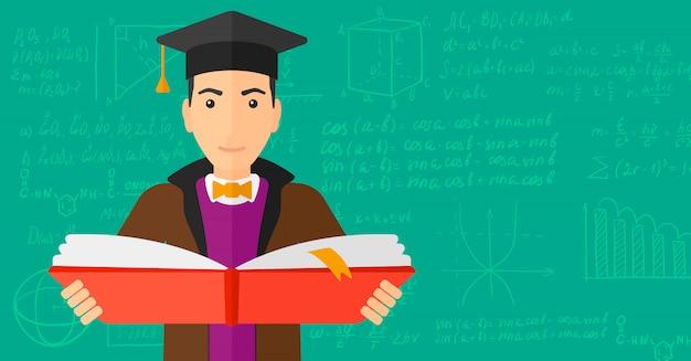 Livre de tenue homme en chapeau de graduation