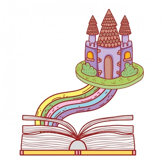 Livre de texte avec la fête du château