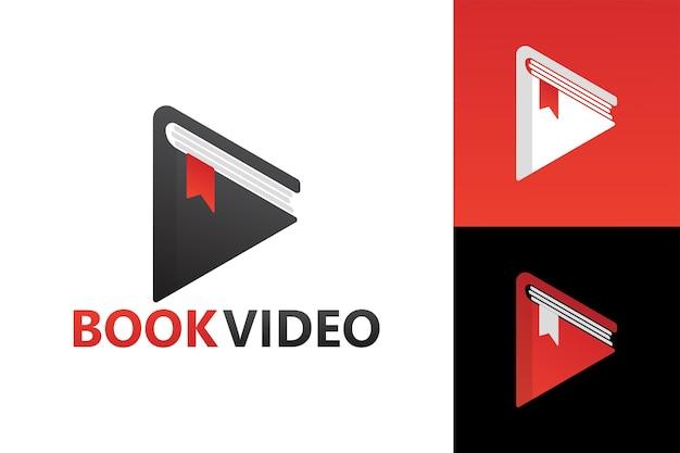 Livre vidéo jouer logo modèle premium vecteur