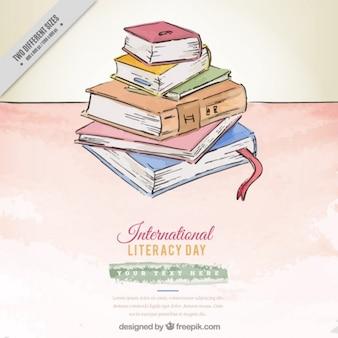 Livres colorés pour la journée internationale de l'alphabétisation