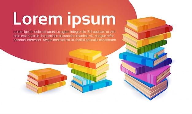 Livres concept pédagogique de l'école stack