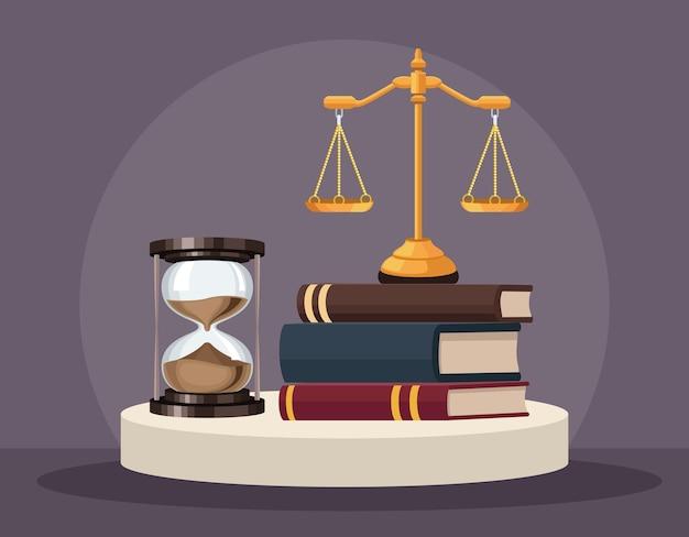 Livres de droit et balance
