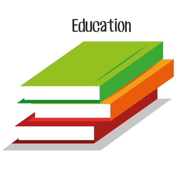 Livres école isolé icône vector illustration design