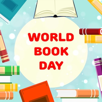Livres de formation. journée mondiale du livre. avril. connaissance. en train de lire. monde. pour votre conception.