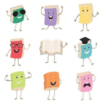 Livres humanisés mignons personnages