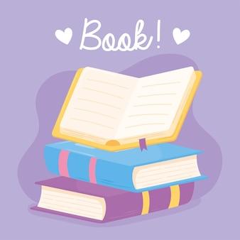 Livres ouverts et fermés, connaissances, apprentissage et éducation