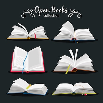 Livres ouverts. n
