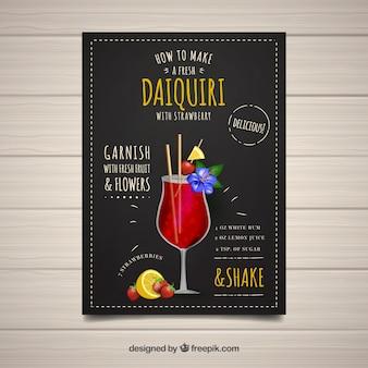 Livret de cocktails avec daiquiri