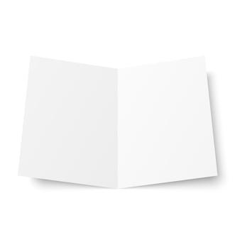 Livret double blanc blanc ouvert