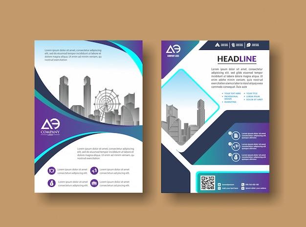 Livret de rapport annuel de magazine avec image de bâtiment