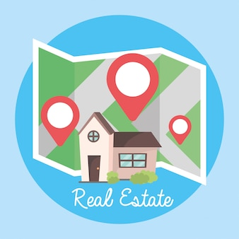 Localisation et carte pour localiser la propriété
