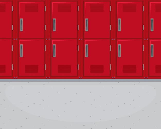 Locker dans le couloir