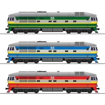 Locomotive sur diesel comme coffret de chemin de fer