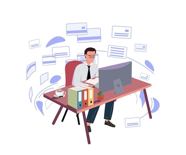 Logiciel de conception d'interface de développement web de travail à distance testant l'illustration vectorielle de codage