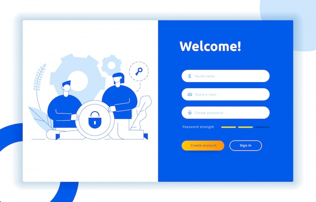 Login ui concept de design et illustration ux