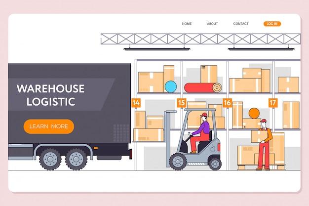 Logistique du transport en entrepôt