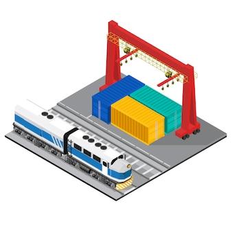 Logistique entreprise industrielle isolé icône sur fond