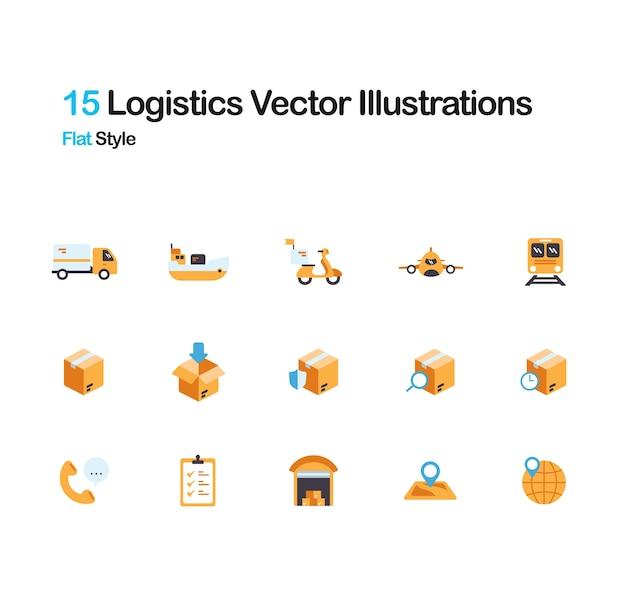 Logistique illustration plate