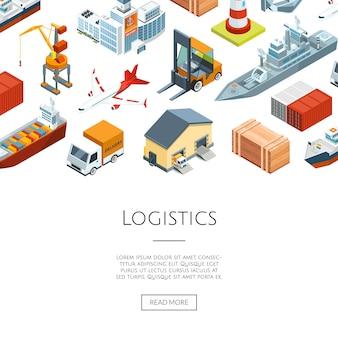 Logistique maritime isométrique et port maritime