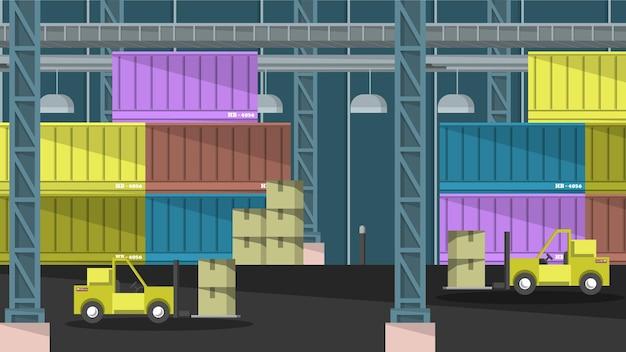 Logistique - scènes d'intérieur