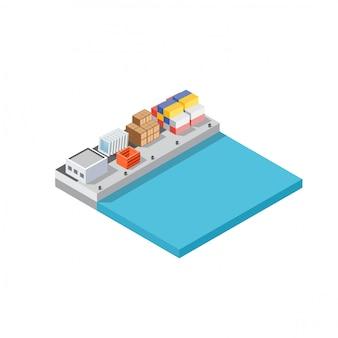 Logistique de transport des cargos portuaires