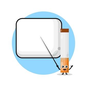 Logo 13cigarettes devient une mascotte de personnage mignon d'enseignant