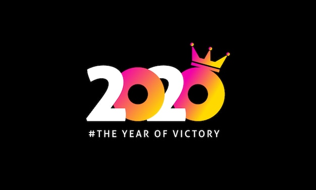 Logo 2020 avec forme de couronne