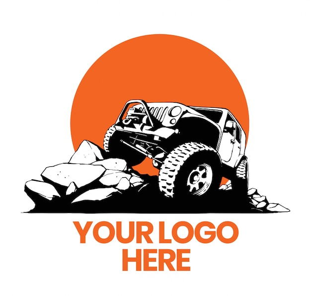 Logo 4x4 voiture tout terrain